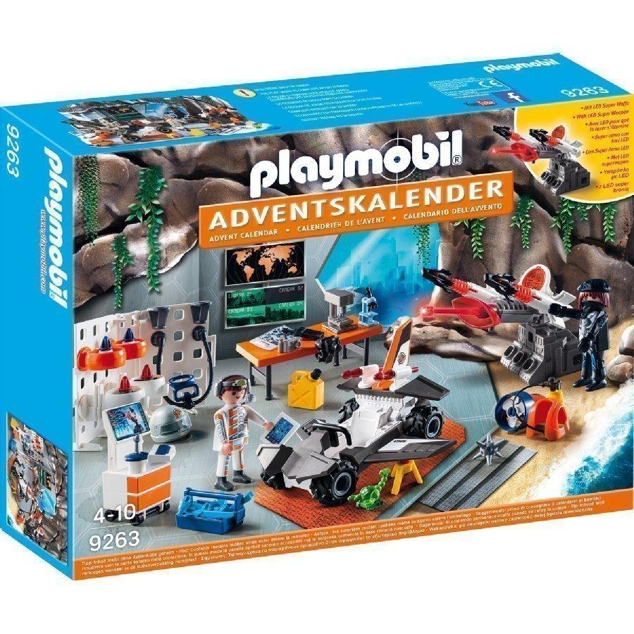Playmobil Joulukalenteri Agenttien Tukikohta 9263
