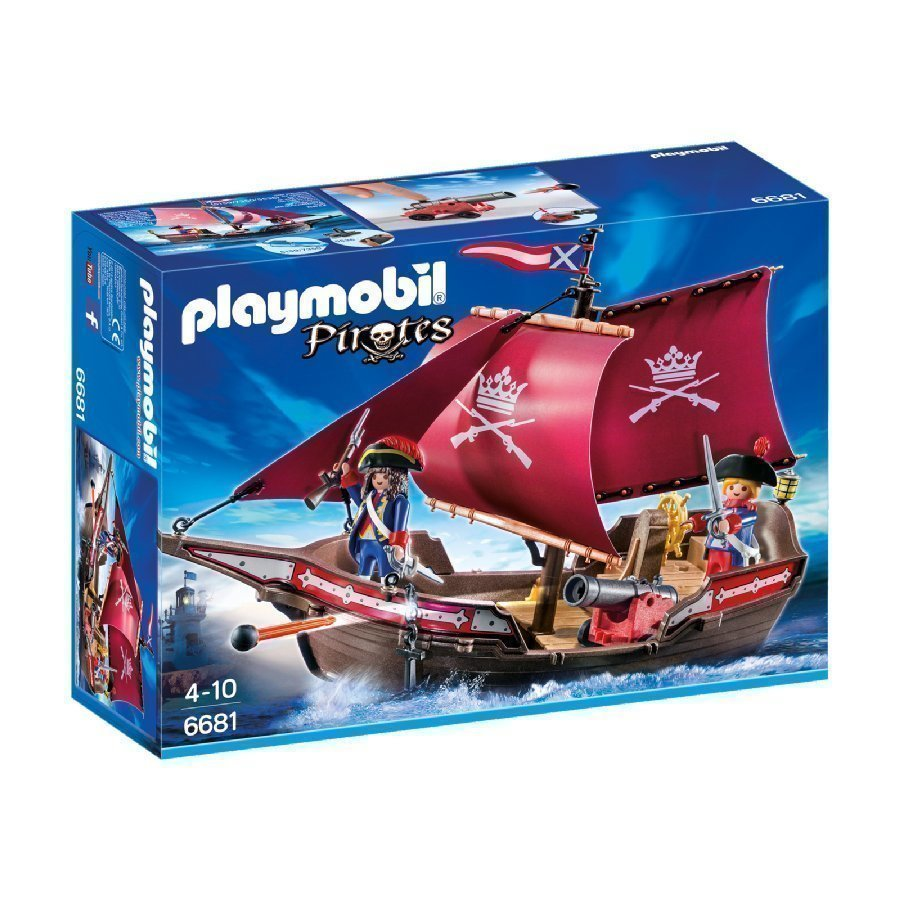 Playmobil Pirates Sotilaslaiva 6681