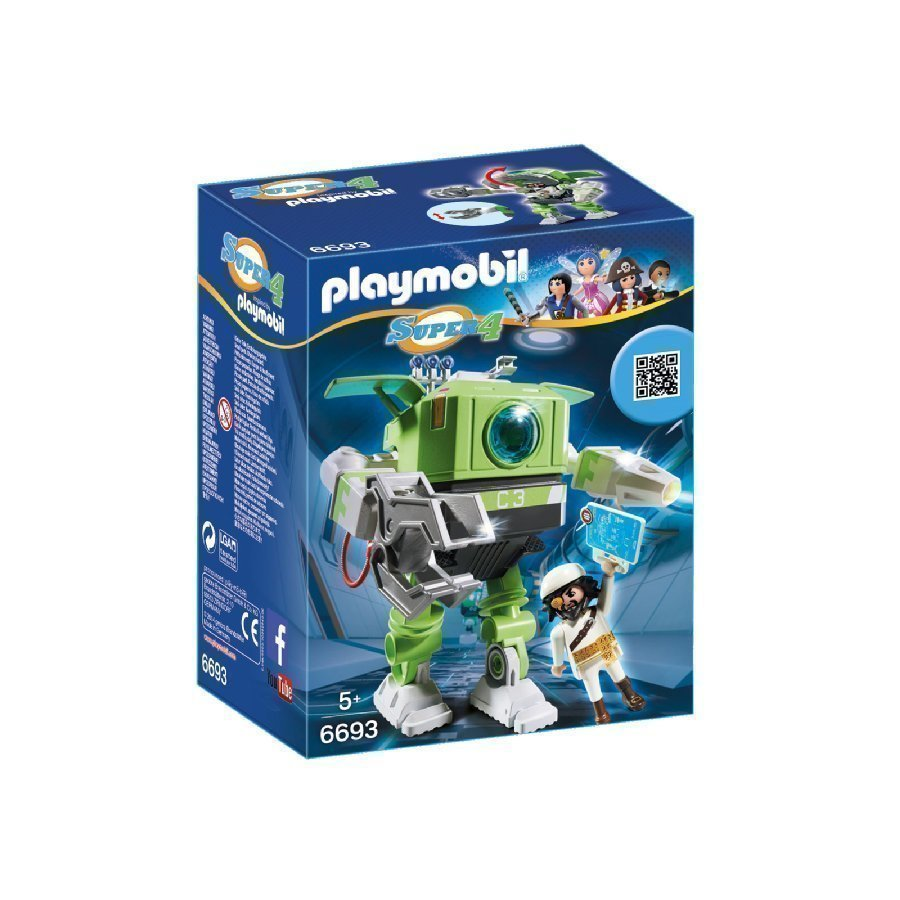Playmobil Super 4 Cleano Robotti 6693
