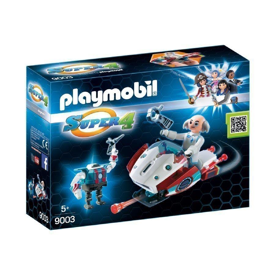 Playmobil Super 4 Skyjet Tohtori X Ja Robotti 9003