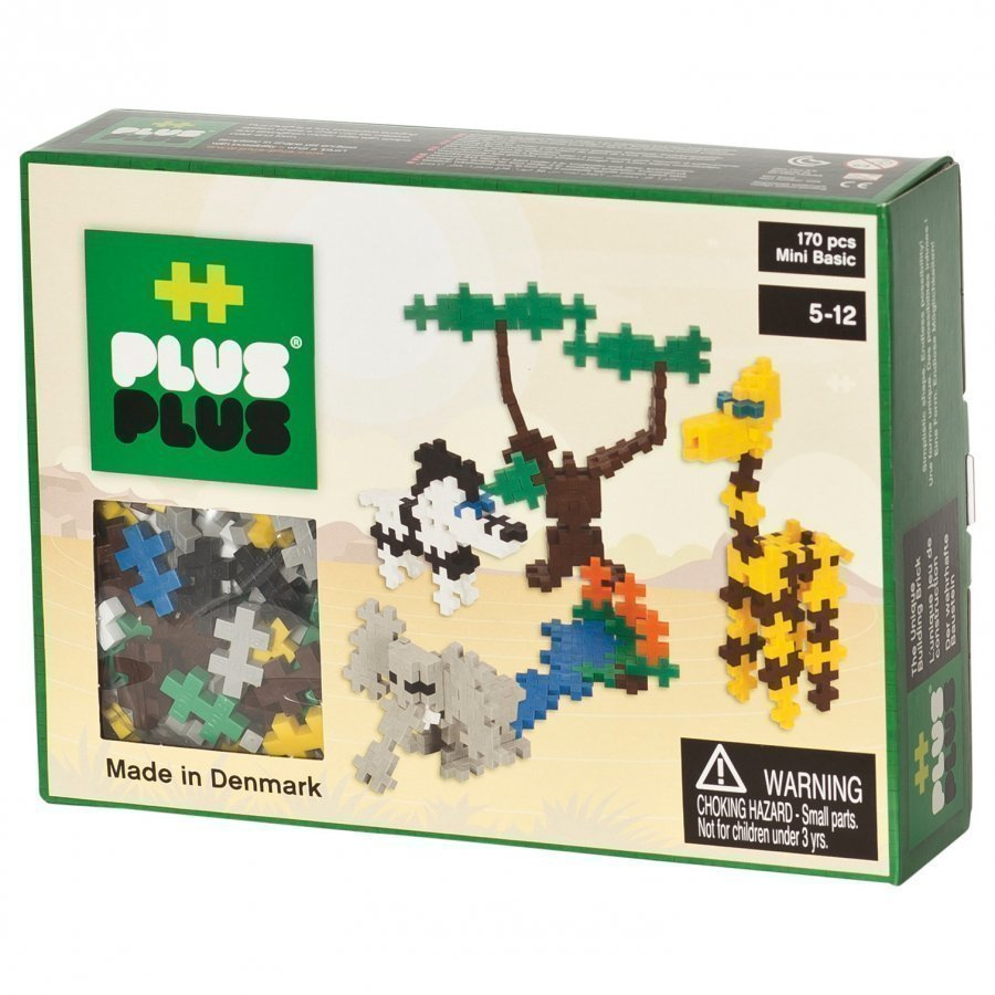 Plus Plus Mini Basic Animals 170 Pcs Palapeli
