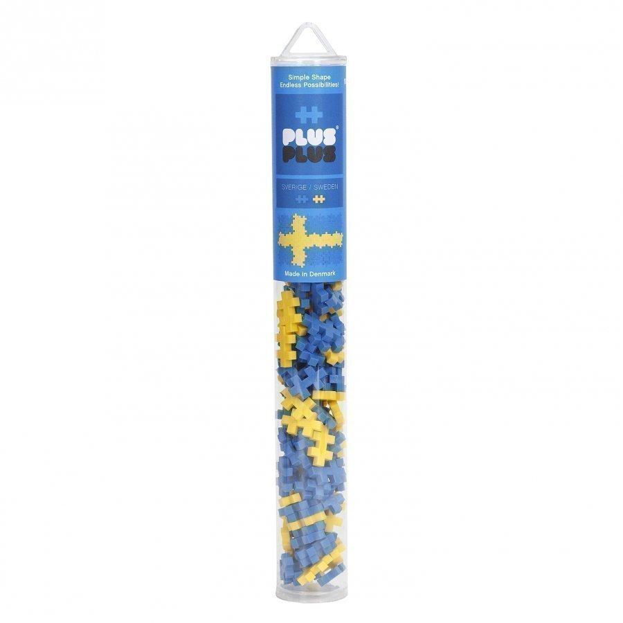 Plus Plus Mini Swedish Flag Tube 100 Pcs Palapeli