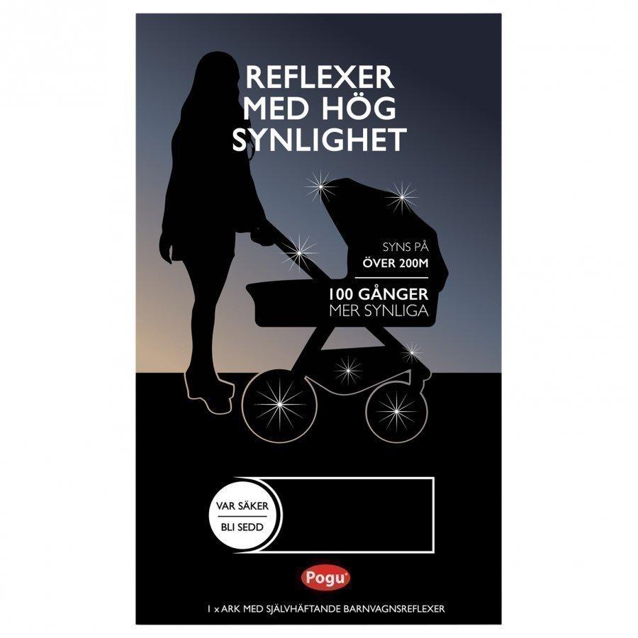 Pogu Stroller Reflectors Black Heijastin