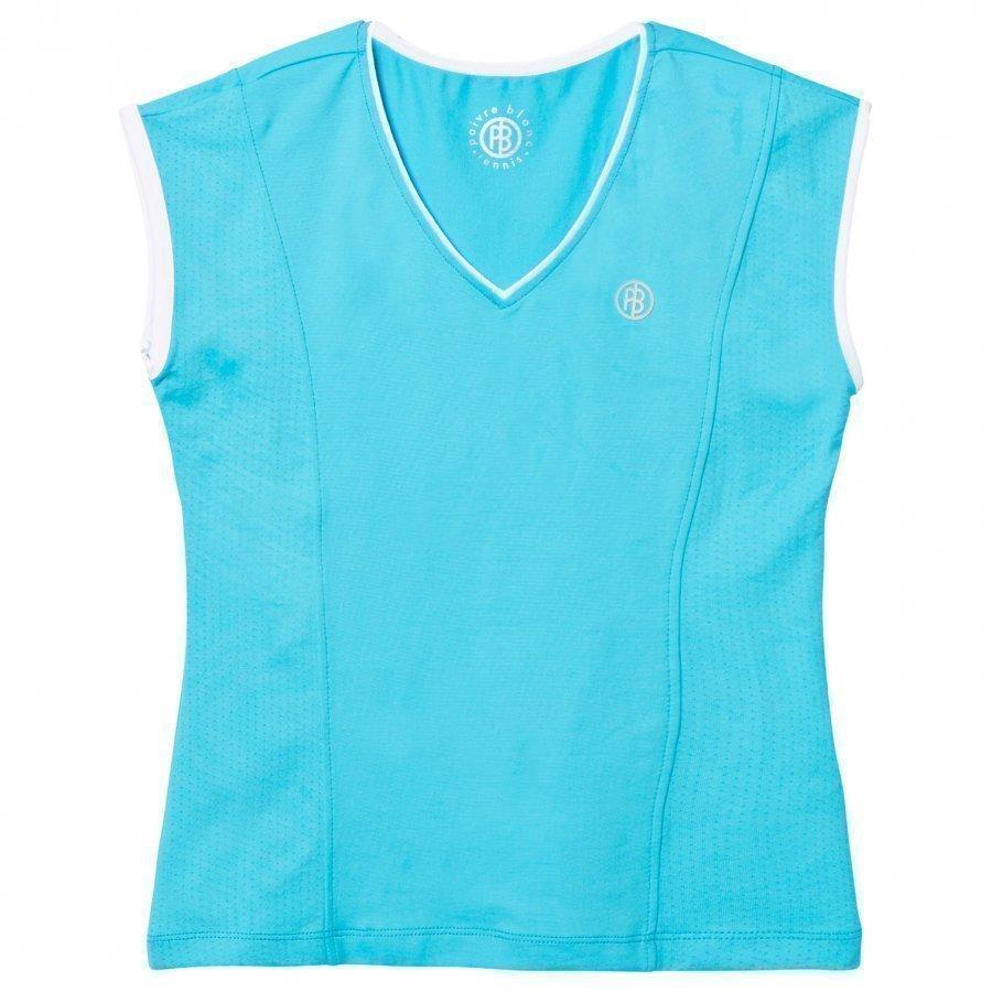 Poivre Blanc Blue Classic Tennis Tee T-Paita