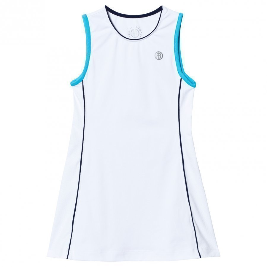 Poivre Blanc White Blue Classic Tennis Dress Tennismekko