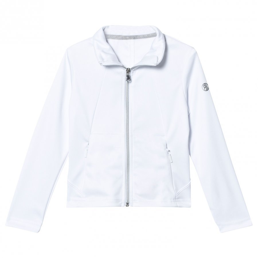 Poivre Blanc White Classic Tennis Tracksuit Jacket Verryttelytakki