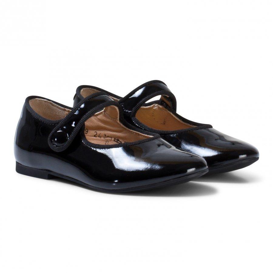 Pom Dapi Daisy Baby Shoes Noir Black Ballerinat