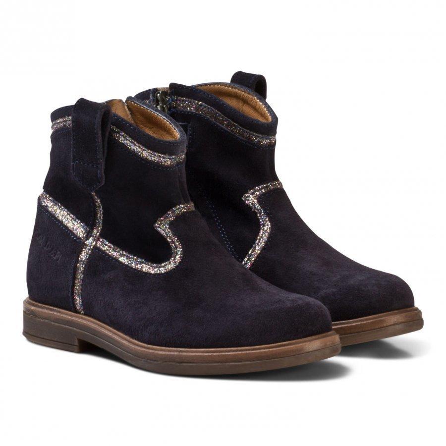 Pom Dapi Hobo Glitter Boots Dark Blue Nilkkurit