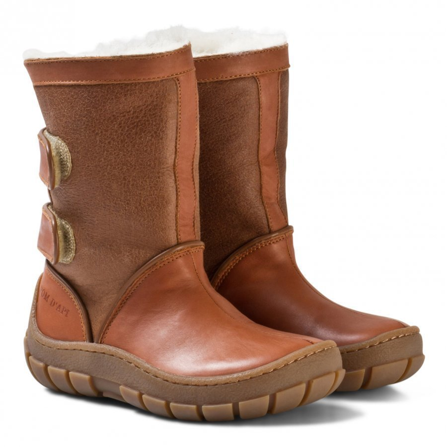 Pom Dapi Piwi Chabraque Boots Camel Korkeavartiset Saappaat