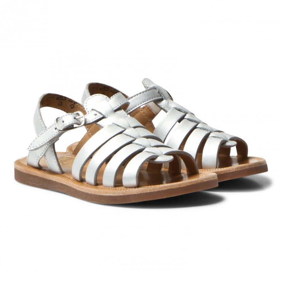 Pom Dapi Plagette Strap Sandals Silver Remmisandaalit