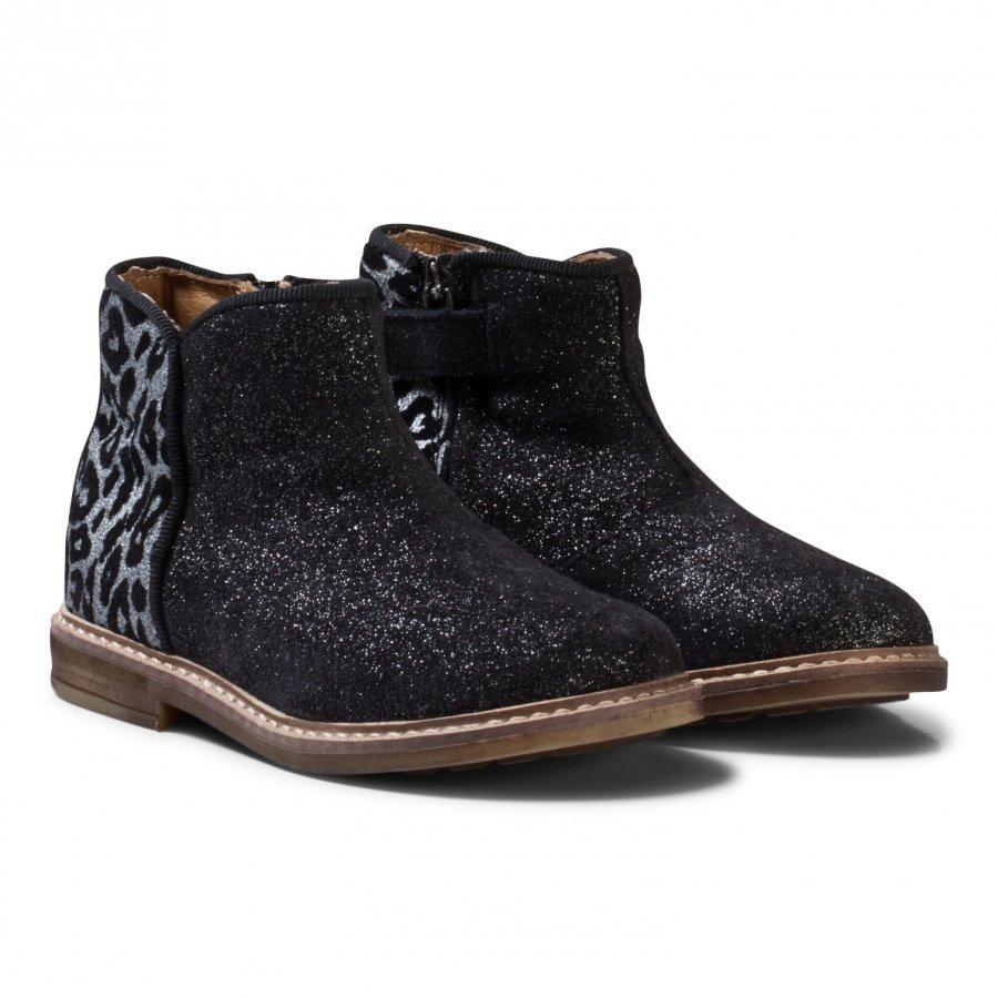 Pom Dapi Retro Back Noir Boots Argent Nilkkurit