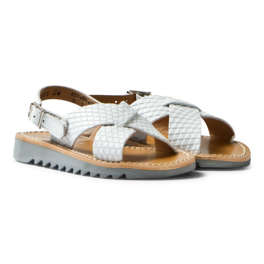Pom Dapi Ripple Sandals Cross Buckle Blanc Remmisandaalit