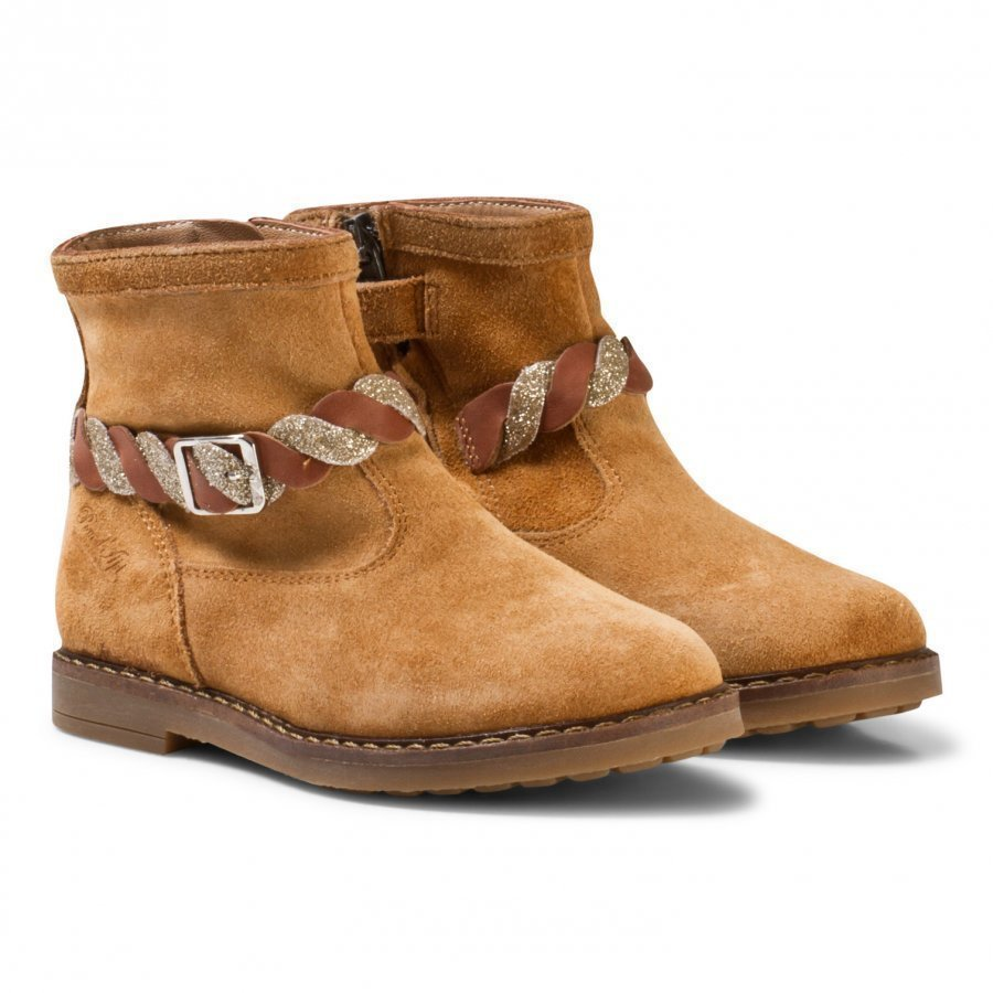 Pom Dapi Trip Twist Velour Boots Brown Nilkkurit