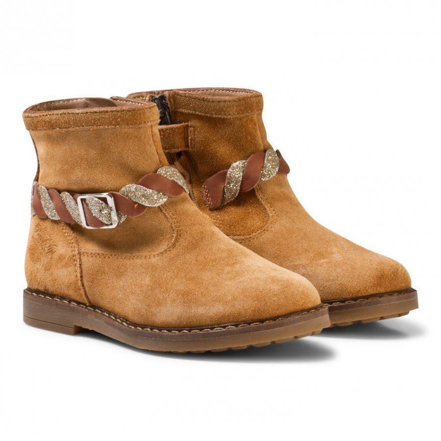 Pom Dapi Trip Twist Velour Boots Brown Nilkkurit