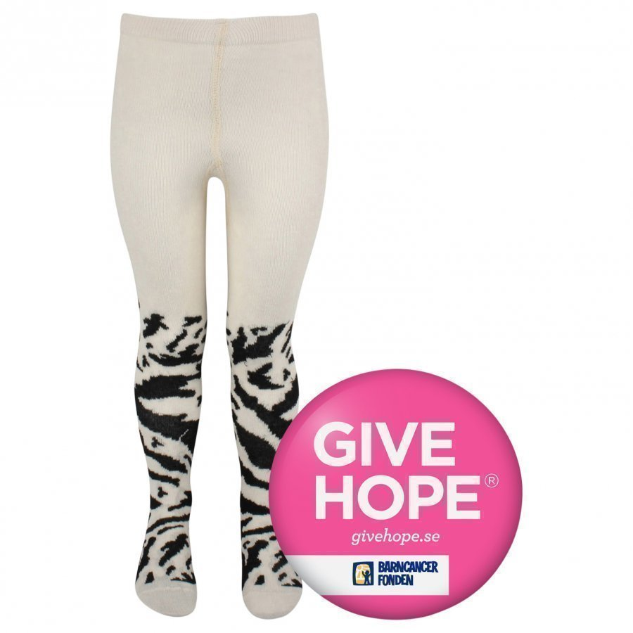 Popupshop Tiger Tights White Sukkahousut
