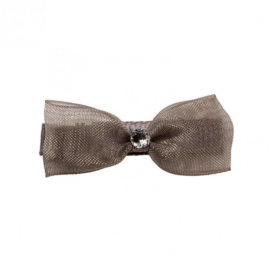 Prinsessefin Caroline Organza Baby Hair Clip Bow Silver Pinni