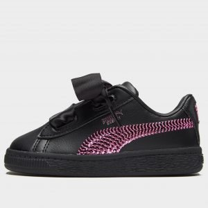 Puma Basket Heart Bling Musta