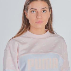 Puma Classics Graphics Crew Neule Vaaleanpunainen