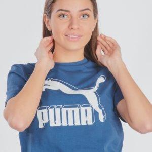 Puma Classics Logo Tee T-Paita Sininen