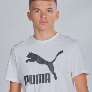 Puma Classics Logo Tee T-Paita Valkoinen