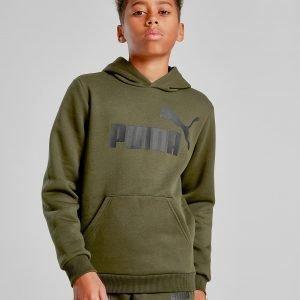Puma Core Logo Hoodie Khaki / Black