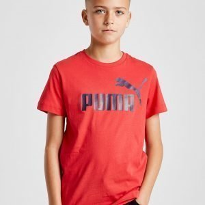 Puma Essential Logo T-Paita Punainen