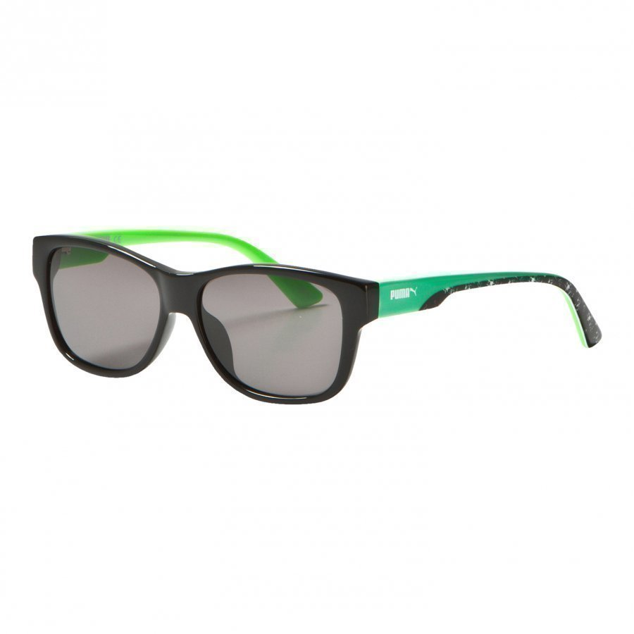 Puma Kid Injection Sunglasses Black Green Aurinkolasit