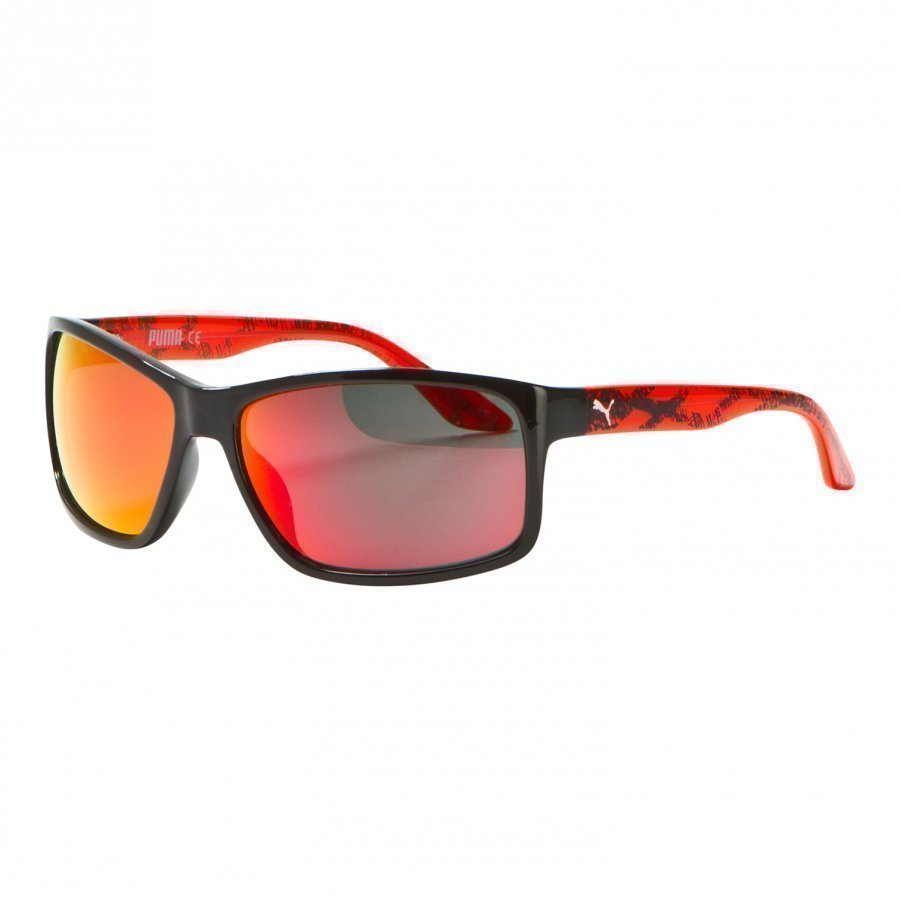 Puma Kid Injection Sunglasses Black Red Aurinkolasit