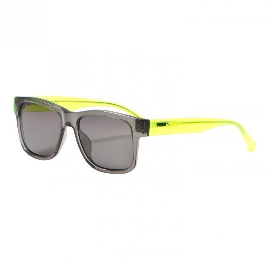 Puma Kid Injection Sunglasses Grey Yellow Aurinkolasit