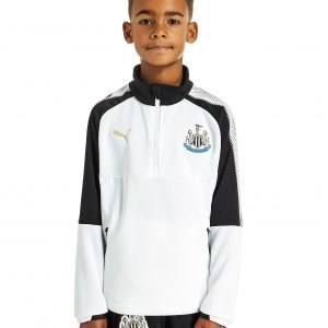Puma Newcastle United 2017 1/4 Zip Training Top Jnr Valkoinen