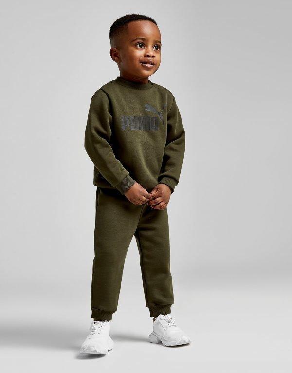 Puma No.1 Logo Crew Tracksuit Infant Khaki / Black