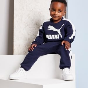 Puma Prime T7 Crew Suit Infant Laivastonsininen