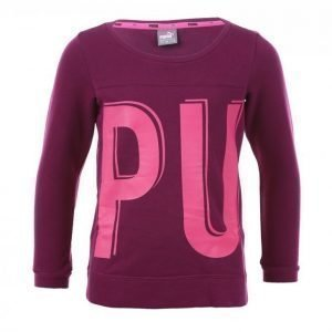 Puma Style Crew Sweat Jr Collegepaita Lila