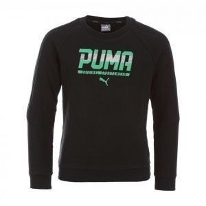 Puma Style Junior Crew Sweat Collegepaita Musta