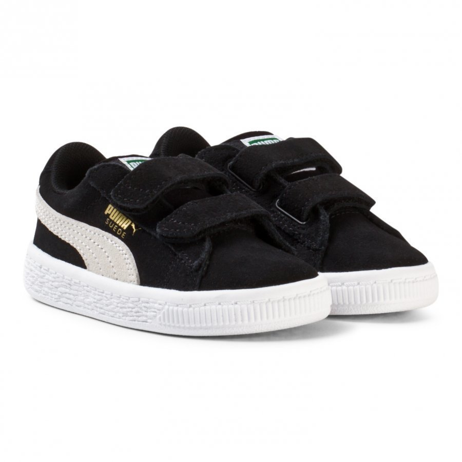 Puma Suede 2-Strap Kids Sneakers Black Lenkkarit