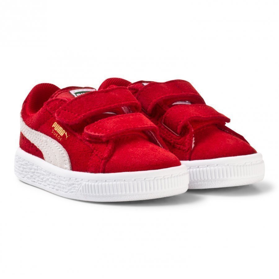 Puma Suede 2-Strap Kids Sneakers Red Lenkkarit
