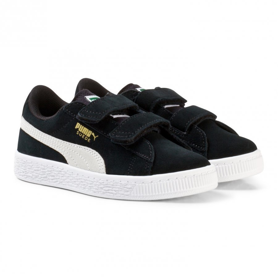 Puma Suede 2-Strap Youth Sneakers In Black Lenkkarit