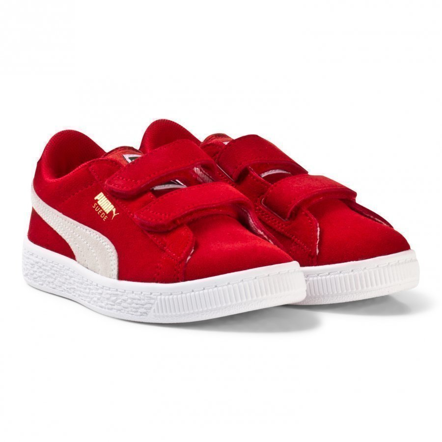 Puma Suede 2-Strap Youth Sneakers Red Lenkkarit