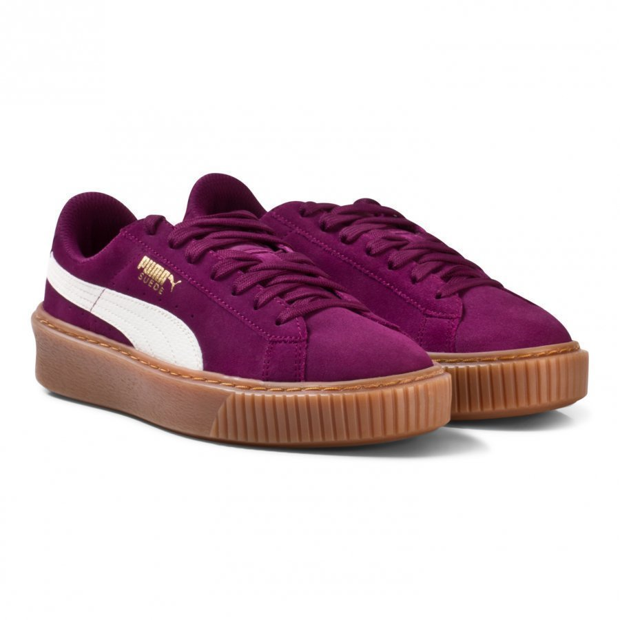Puma Suede Platform Snake Junior Sneakers Puple Lenkkarit