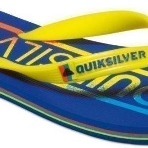 Quiksilver Flip-Flops Molokai word youth Blue/Yellow