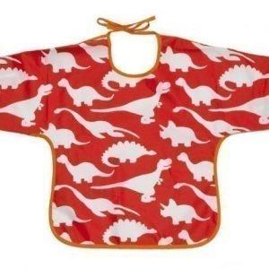 Rätt Start Hihallinen ruokalappu puuvillaa Babysaur Punainen
