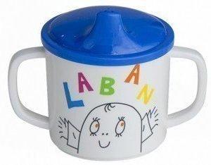 Rätt Start Läikkymätön kahvallinen muki Laban & Friends Sininen