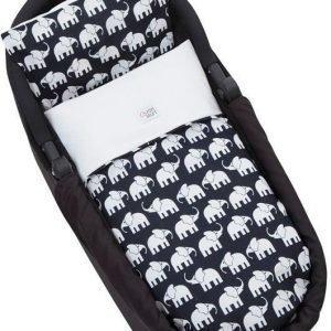 Rätt Start pussilakanasetti Elefantti Vaunuihin Musta