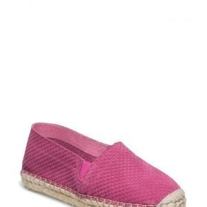 Rainbow & Snow Espadrille Embossed Suede