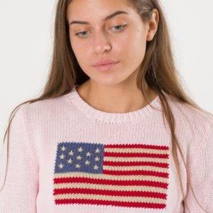 Ralph Lauren American Sweater Neule Vaaleanpunainen