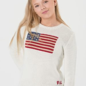 Ralph Lauren American Sweater Neule Valkoinen