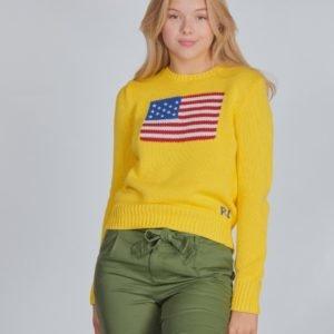 Ralph Lauren American Swt Tops Sweater Neule Keltainen