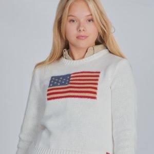 Ralph Lauren American Swt Tops Sweater Neule Valkoinen