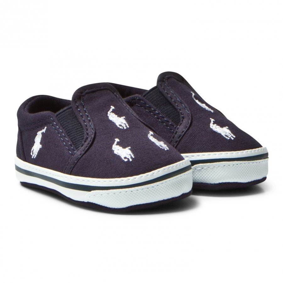Ralph Lauren Batten Boat Crib Shoes Navy Vauvan Kengät