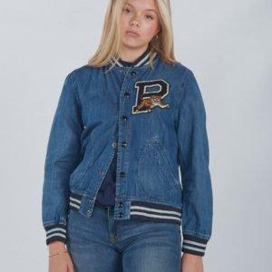 Ralph Lauren Bball Jacket Outerwear Denim Takki Sininen
